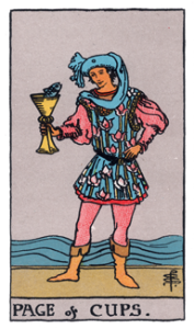 Page of Cups from the Smith Rider Waite Tarot