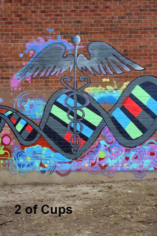 Graffiti Caduceus - 2 of Cups