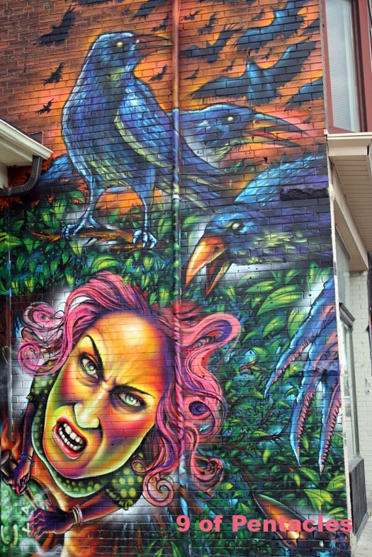 9 of Pentacles - Toronto Graffiti Tarot (WIP)