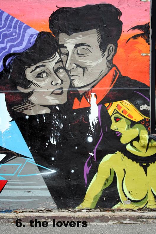 #6 Lovers - Toronto Graffiti Tarot (WIP)