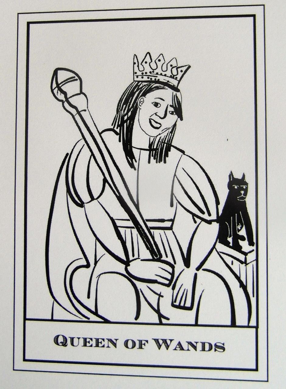 Queen of Wands Sp.Ed. - Tarot Waiting To Happen by Andrew McGregor