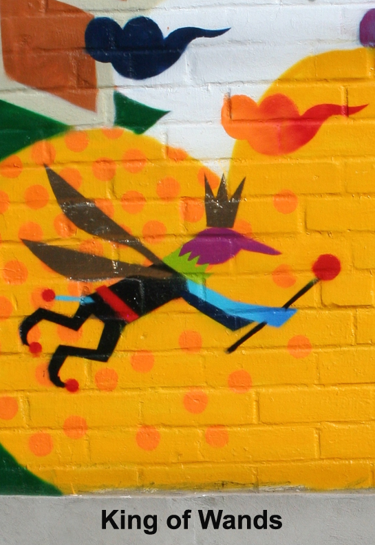 Graffiti King of Wands