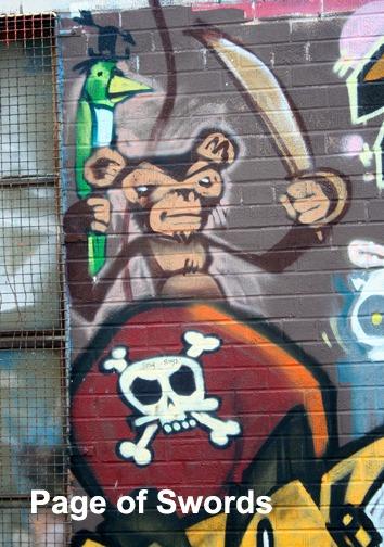 Page of Swords - Toronto Graffiti Tarot