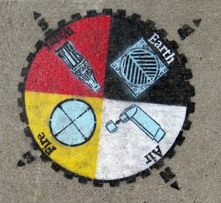 the four elements - toronto graffiti tarot