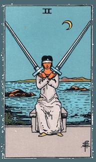 2 of Swords - Rider Waite Smith Tarot