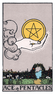 Ace of Pentacles - Rider Waite Smith Tarot