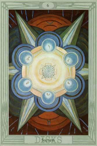 6 of Disks - Thoth Tarot