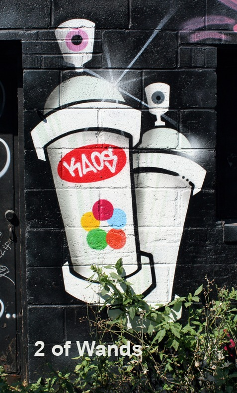 2 of Wands - Toronto Graffiti Tarot
