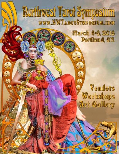 Northwest Tarot Symposium 2016 - poster by Erik C. Dunne