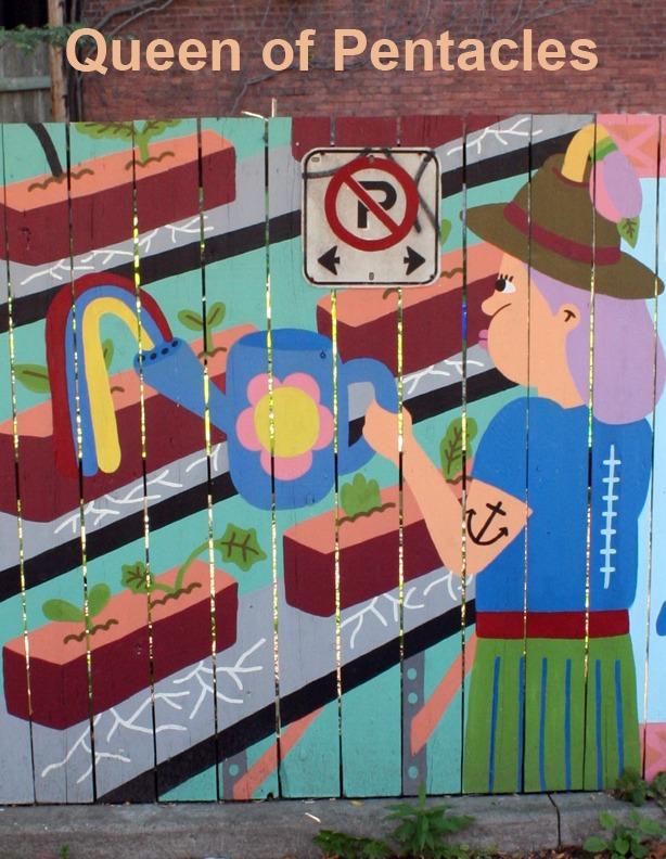 Queen of Pentacles - Toronto Graffiti Tarot