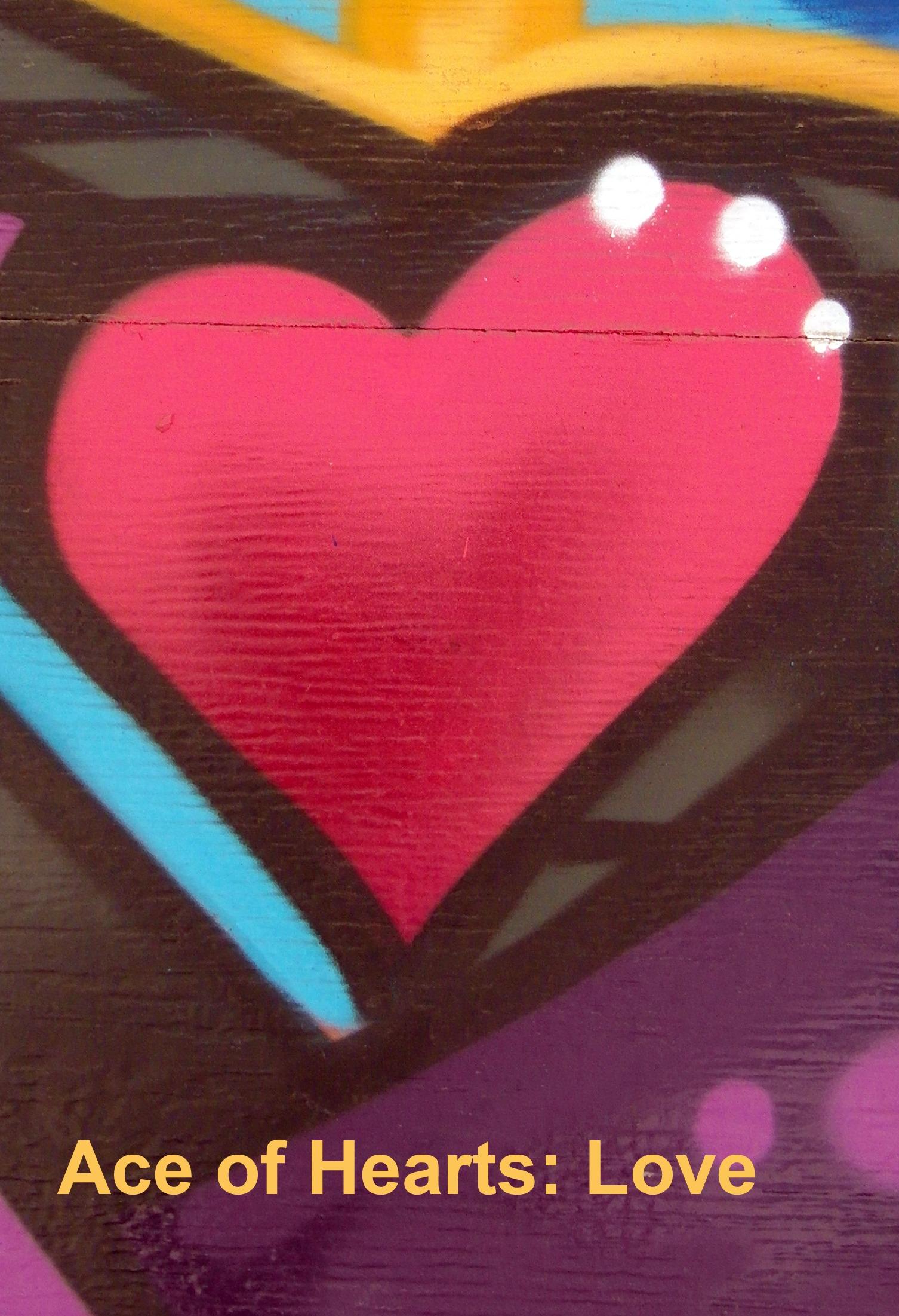 Ace of Hearts - Toronto Graffiti Tarot