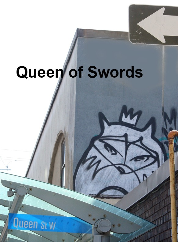 Queen of Swords - Toronto Graffiti Tarot
