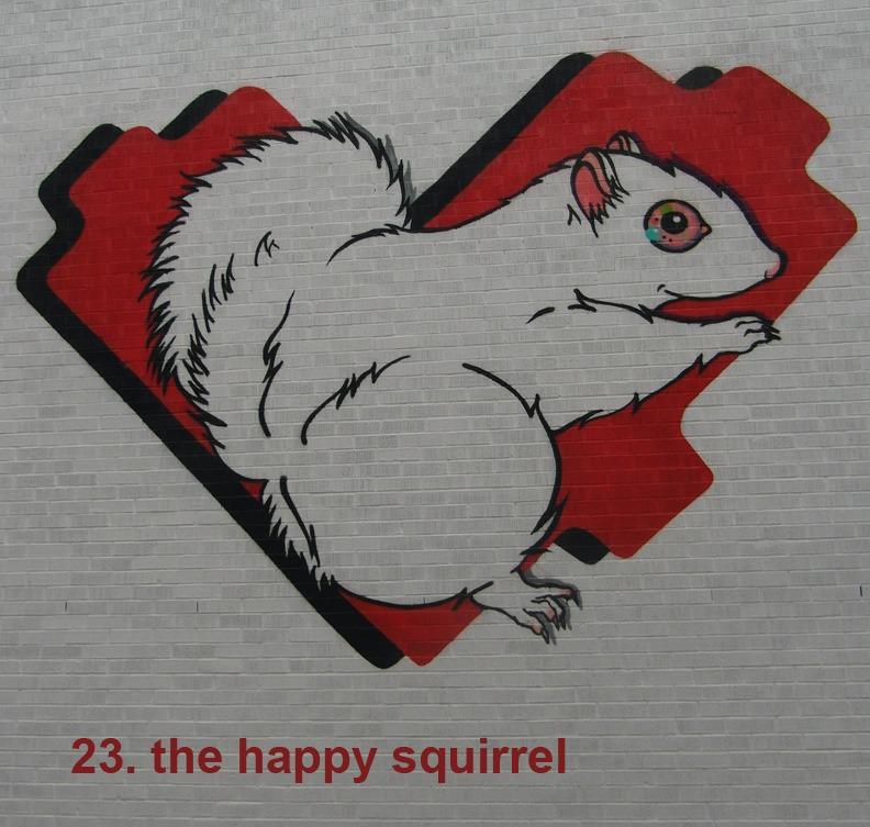 #23 - The Happy Squirrel - Toronto Graffiti Tarot