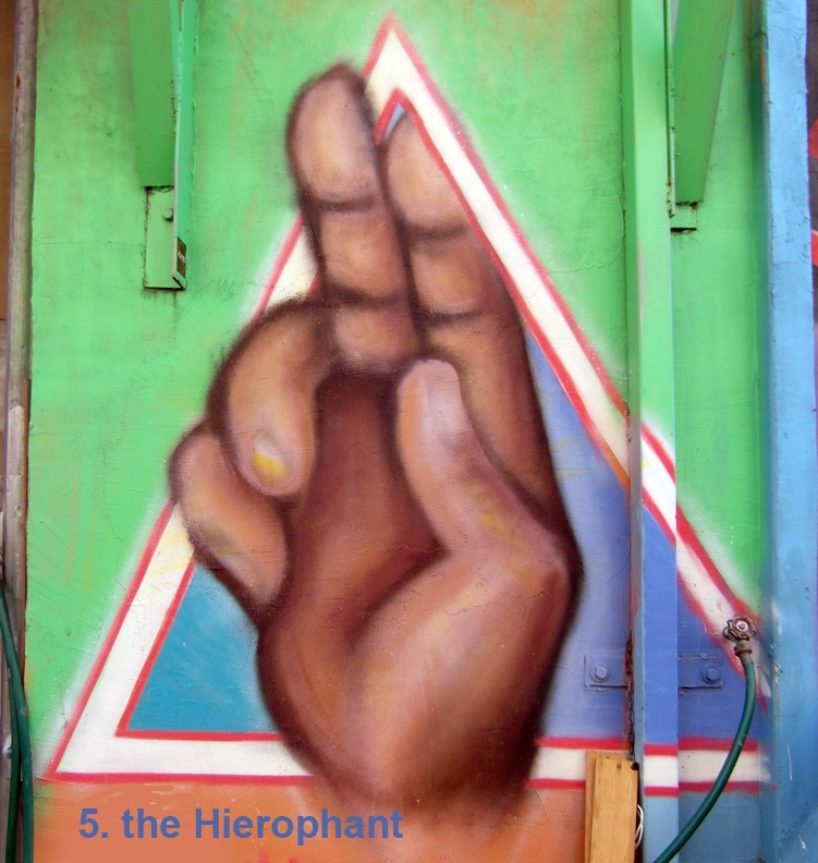 #5 - the Hierophant - Toronto Graffiti Tarot
