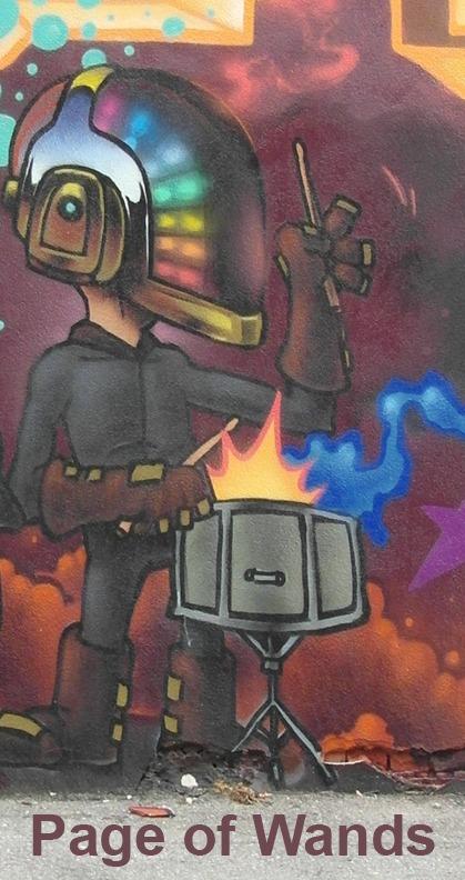 Page of Wands - Toronto Graffiti Tarot