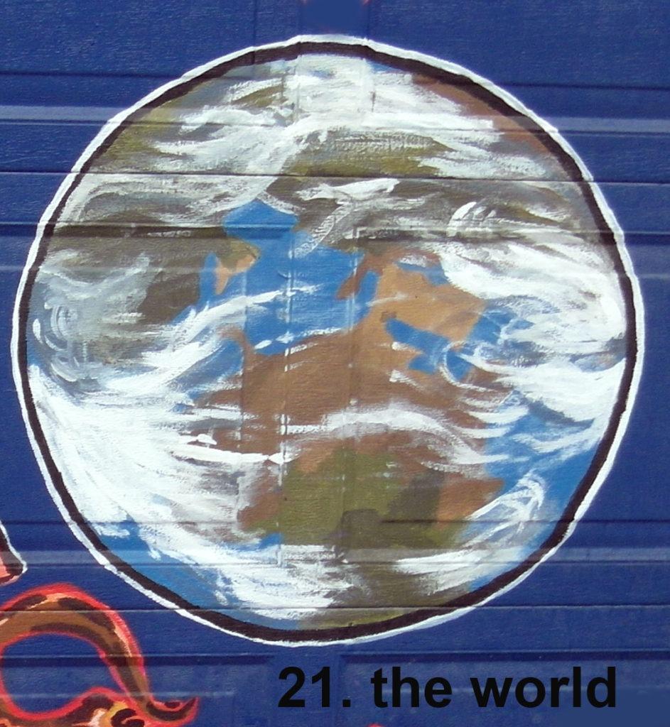 #21 The World - Toronto Graffiti Tarot