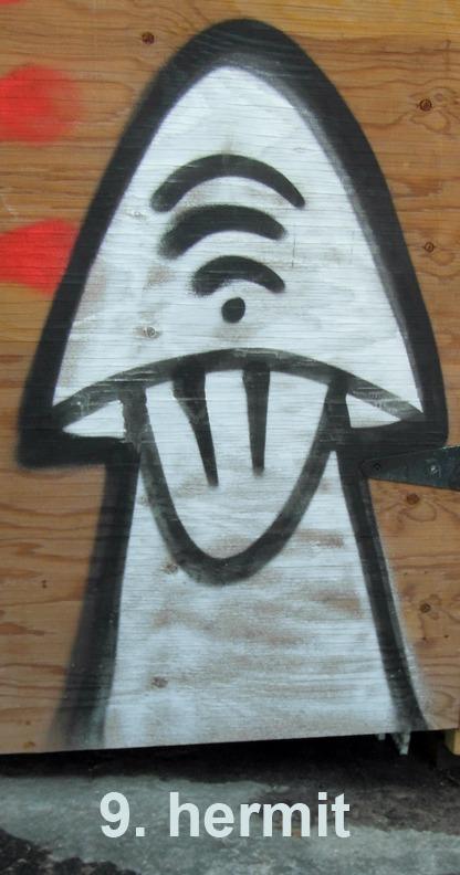 #9 The Hermit - Toronto Graffiti Tarot