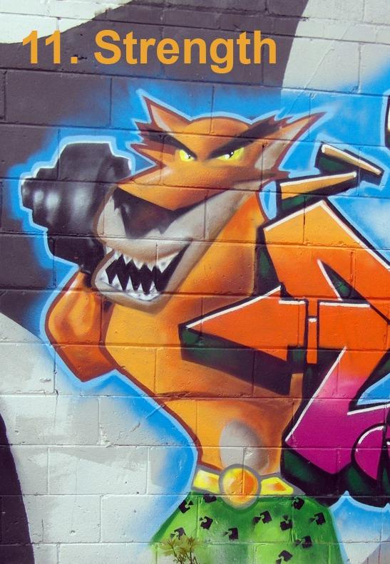 #11 Strength - Toronto Graffiti Tarot