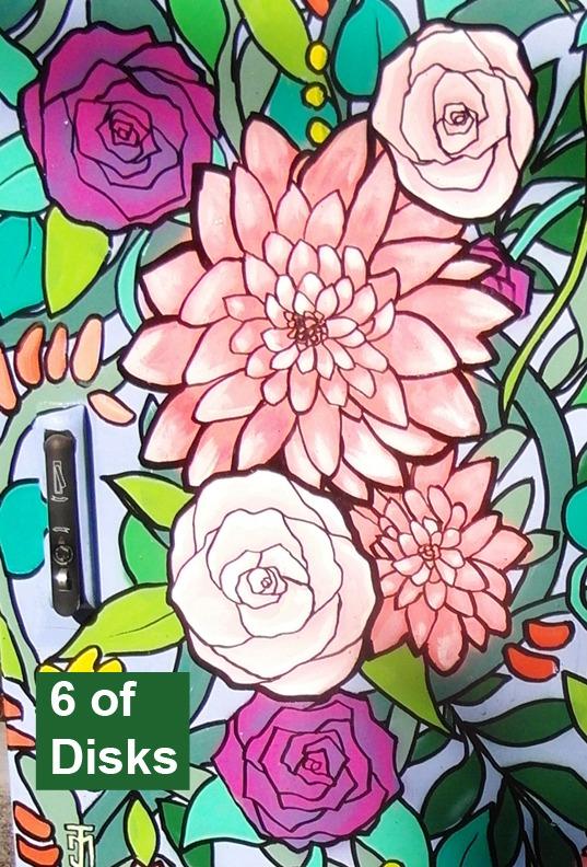 6 of Disks - Toronto Graffiti Tarot