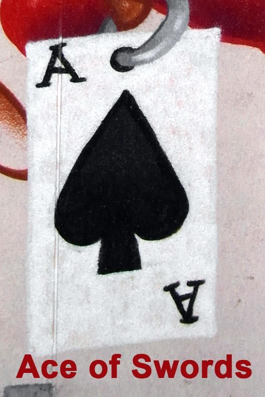 Ace of Swords (Spades) - Toronto Graffiti Tarot