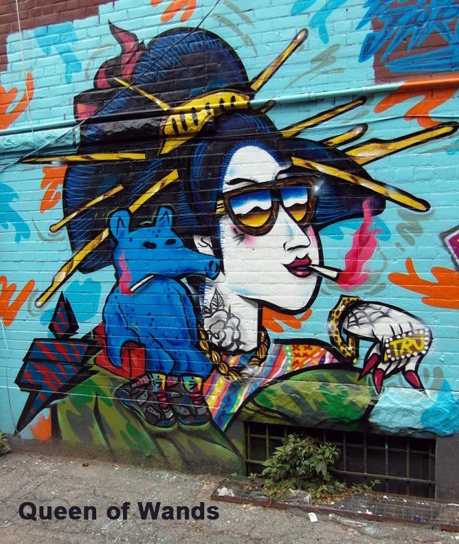 Queen of Wands - Toronto Graffiti Tarot