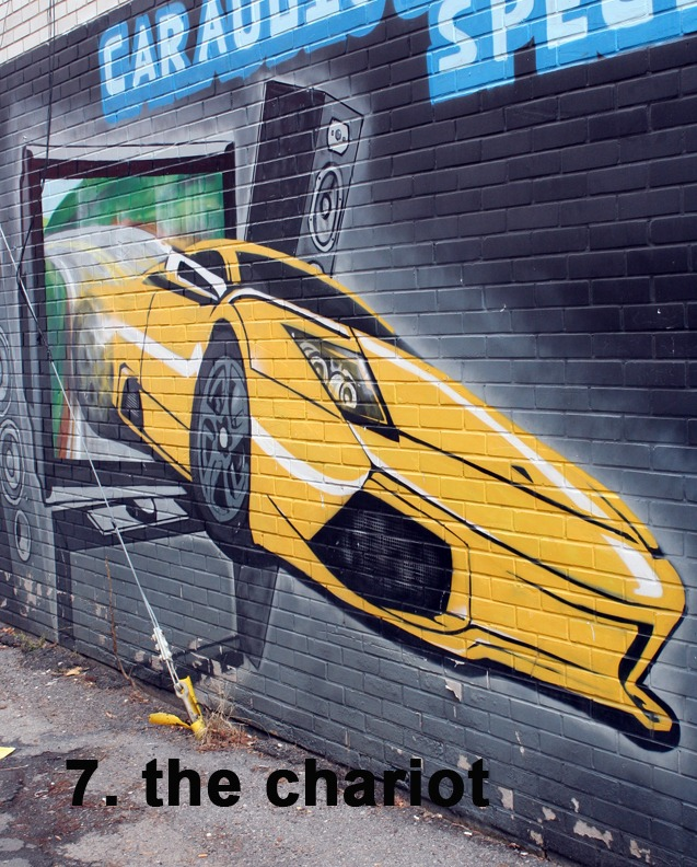 #7 The Chariot - Toronto Graffiti Tarot