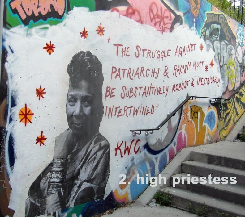 #2 High Priestess - Toronto Graffiti Tarot - Kimberlé Crenshaw