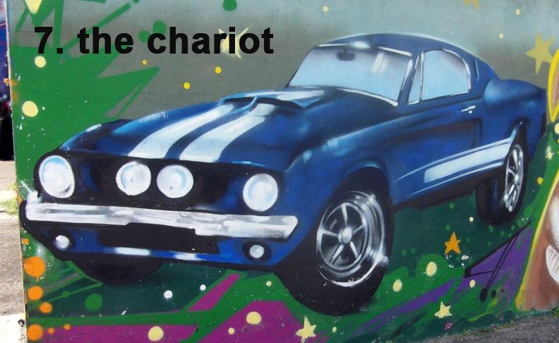 #7 The Chariot - Toronto Graffiti Tarot