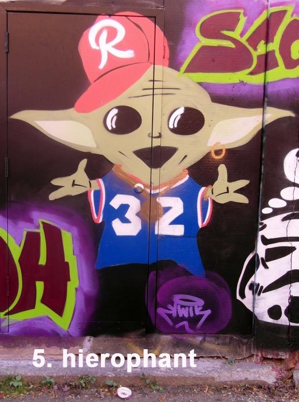 #5 The Hierophant  Toronto Graffiti Tarot