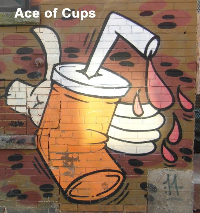 Ace of Cups - Toronto Graffiti Tarot