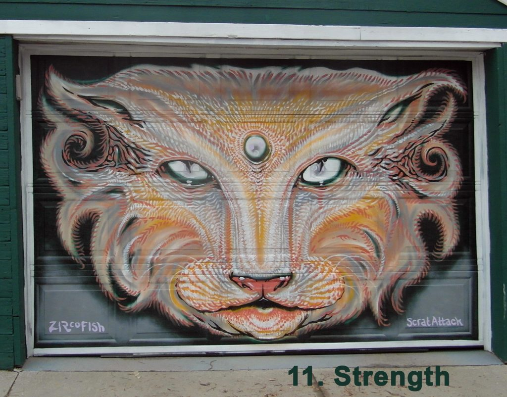 #11 Strength - Toronto Graffiti Tarot