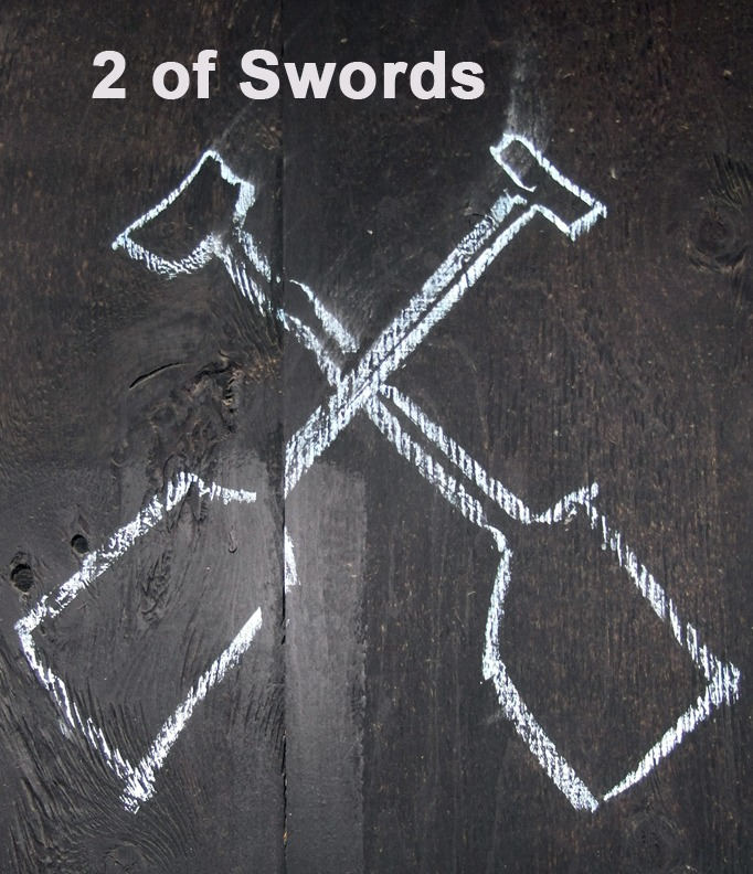 2 of Swords - Toronto Graffiti Tarot
