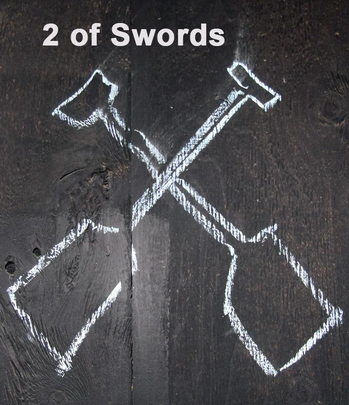 2 of Swords - Toronto Graffiti Tarot