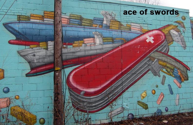 Ace of Swords - Toronto Graffiti Tarot