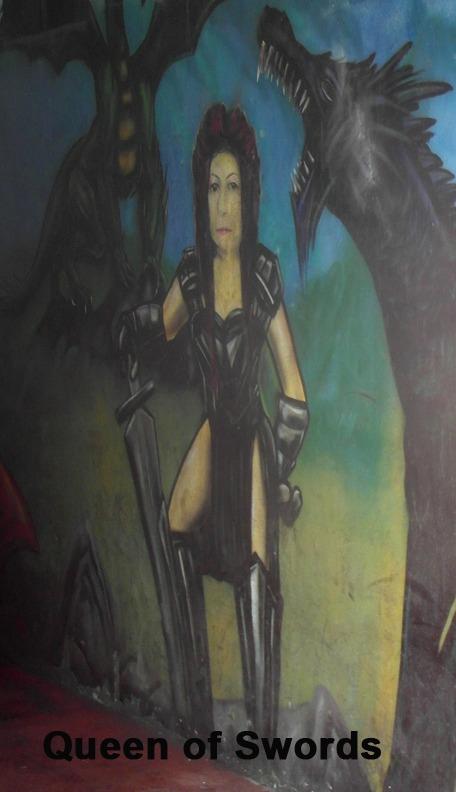 Queen of Swords - Toronto Graffiti Tarot